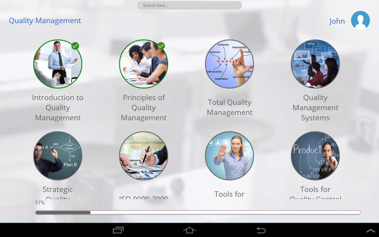 Learn Quality Management- screenshot