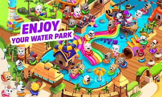 ApkMod1.Com Talking Tom Pool APK + Mod Unlimited Money Android Free Android Game Puzzle