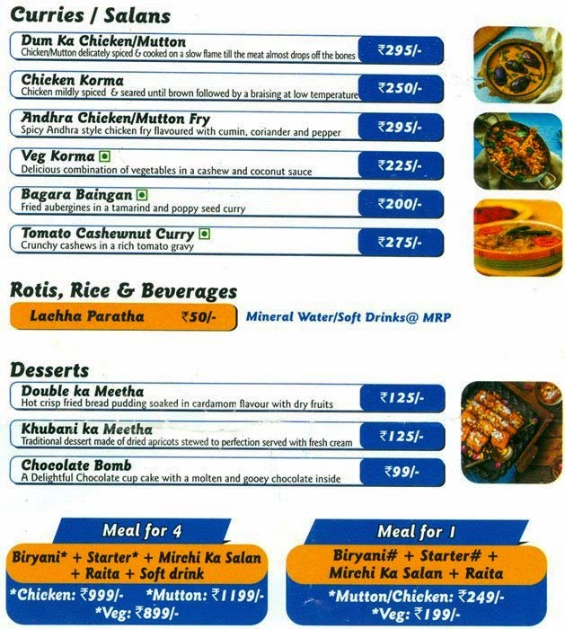 Biryani Blues menu 2