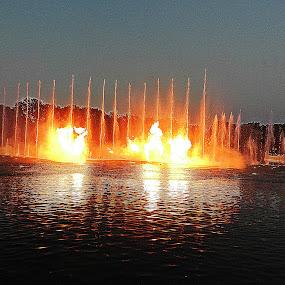 Water & Fire by Vivek Suryanarayana - City,  Street & Park  Fountains