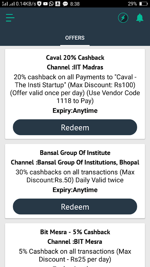 UPI Send Receive Payments- screenshot