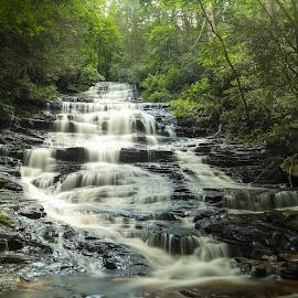 "Majestic Minnehaha Falls, Lake Rabun, Georgia USA by Nauman Khan - Landscapes Waterscapes ( mountains, falls, rocks, water falls, hike, water, lake, trees, "" )"