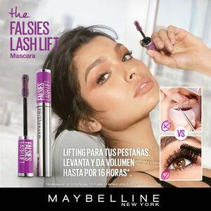 Pestañina Maybelline The Falsies Lash Lift Waterproof Black x 10 ml