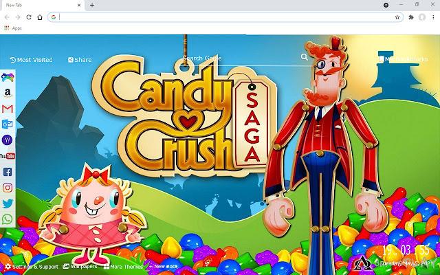 Candy Crush Saga New Tab