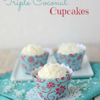 Triple Coconut Cupcakes.
