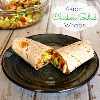 Asian Chicken Salad Wrap