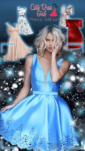 Cute Dress Girl Photo Editor - náhled