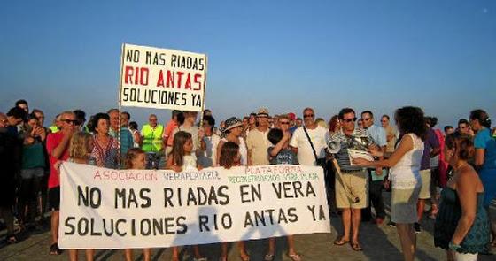 Ya hay proyecto para la limpieza de la desembocadura del Río Antas