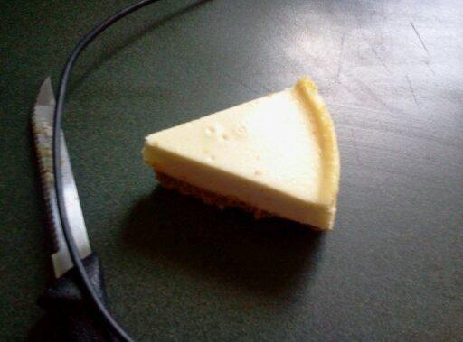 Cut cheese cake into little squares about 2 inches or a good size to...