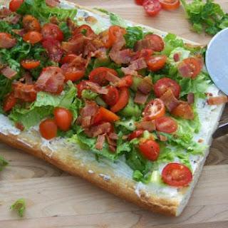 BLT Pizza -Bacon Lettuce and Tomato Pizza.