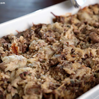 Hamburger Casserole with Wild Rice