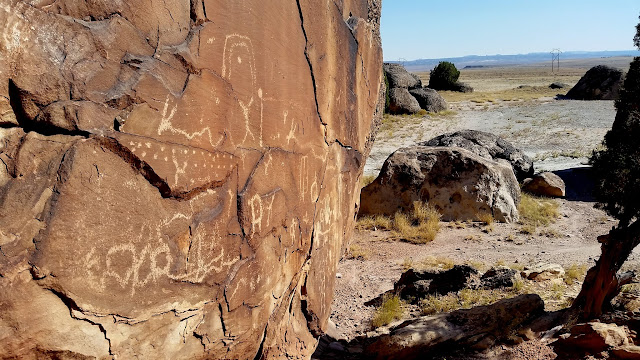 Petroglyphs at camp