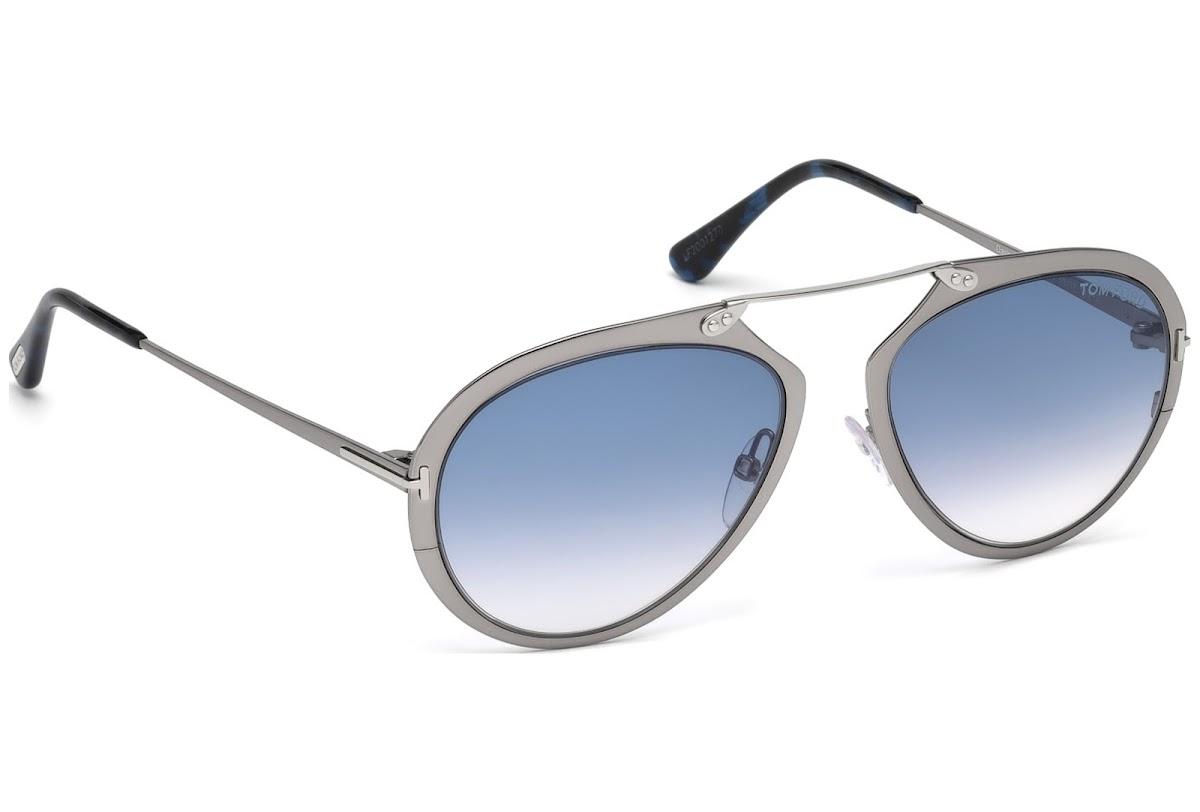 501b51941e4 ... Sunglasses Tom Ford Dashel FT0508 C53 12W (shiny dark ruthenium    gradient blue). Sale