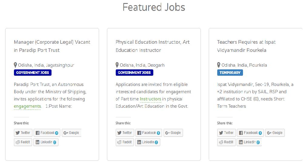 Odisha Jobs | Government & Private Jobs In odisha- screenshot