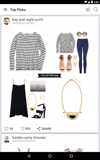Screenshot 7 for Polyvore's Android app'