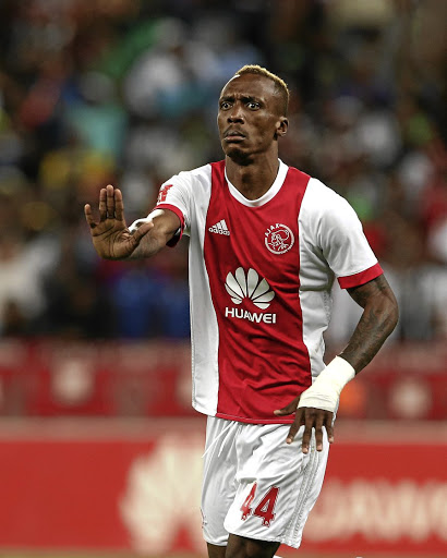 Yannick Zakri of Ajax Cape Town is dribbling his way past the baby mama of the child he sired./ Carl Fourie /Gallo Images