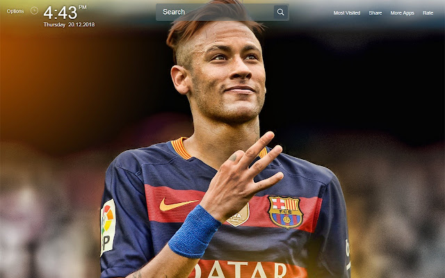 Neymar HD Wallpapers New Tab