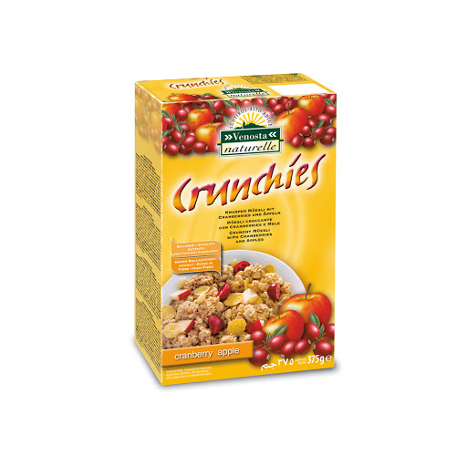 cereal crunchies cranberry y manzana 375gr