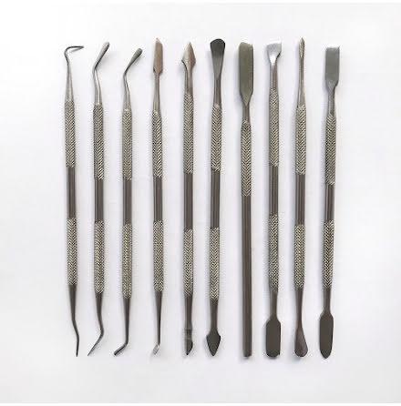 Skulpteringsverktyg set med 10 st