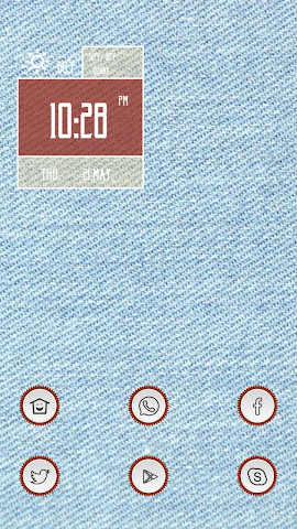 android Light Blue Denim Screenshot 0