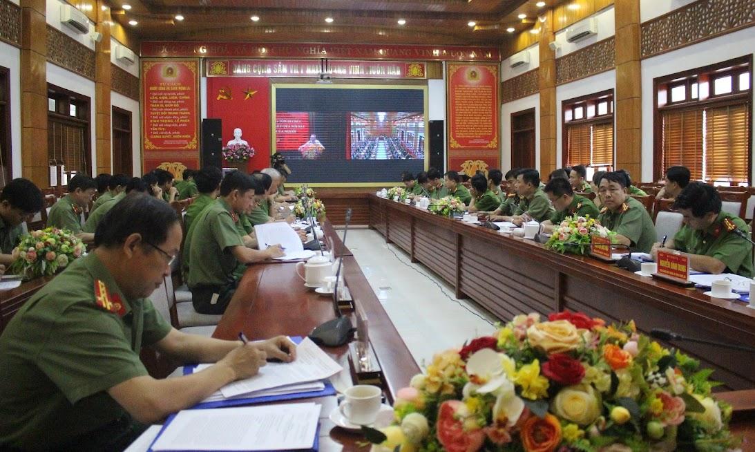 Hội nghị trực tuyến về Di chúc Hồ Chí Minh do Bộ Công an tổ chức