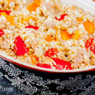 Creamy Bell Pepper and Turkey Rice Casserole