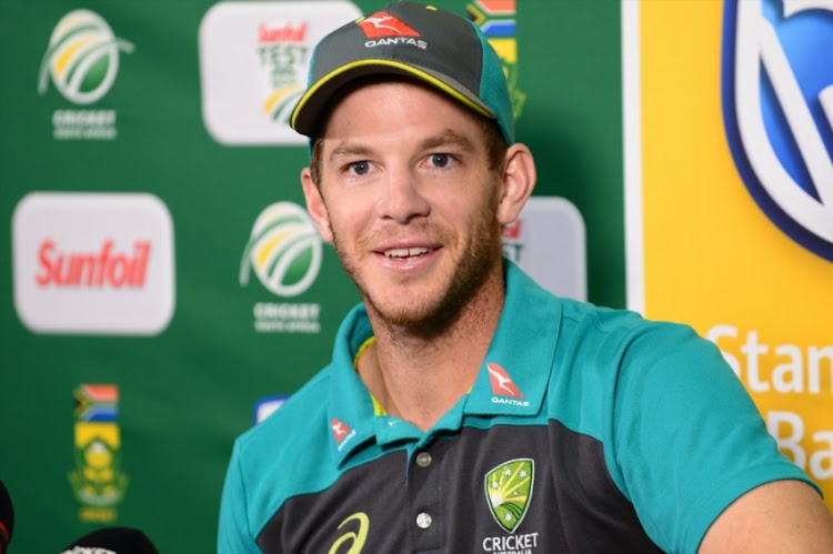 Tim Paine of Australia during day 4 of the 1st Sunfoil Test match between South Africa and Australia at Sahara Stadium Kingsmead on March 04, 2018 in Durban.