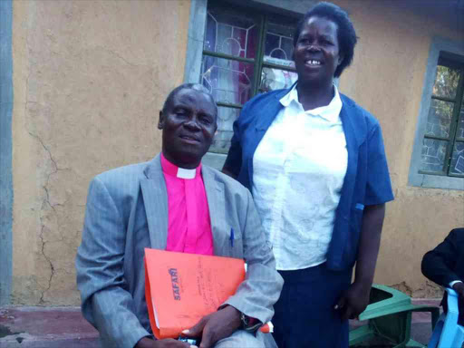 Chairman National Alliance of Registered Churches in Kenya Bishop Samuel Welimo with his wife on Sunday. /BRIAN OJAMAA
