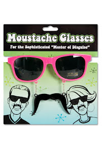 Solglasögon mustasch, rosa
