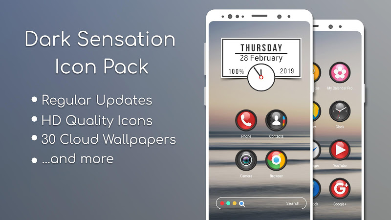 Dark Sensation -Icon Pack v1.0.8 [Patched] 1