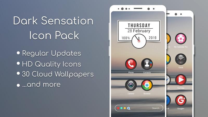 Dark Sensation -Icon Pack Screenshot 0