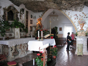 Photo: The Sanctuary of the Madonna della Rocca inside the mountain promontory
