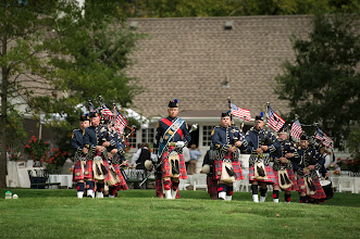 Photo: The Hamilton Co. (OH) Sheriff's Office bagpipe corps concludes the memorial service celebrating the life of Neil Armstrong, Friday, Aug. 31, 2012, at the Camargo Club in Cincinnati. Armstrong, the first man to walk on the moon during the 1969 Apollo 11 mission, died Saturday, Aug. 25. He was 82. Photo Credit: (NASA/Bill Ingalls)