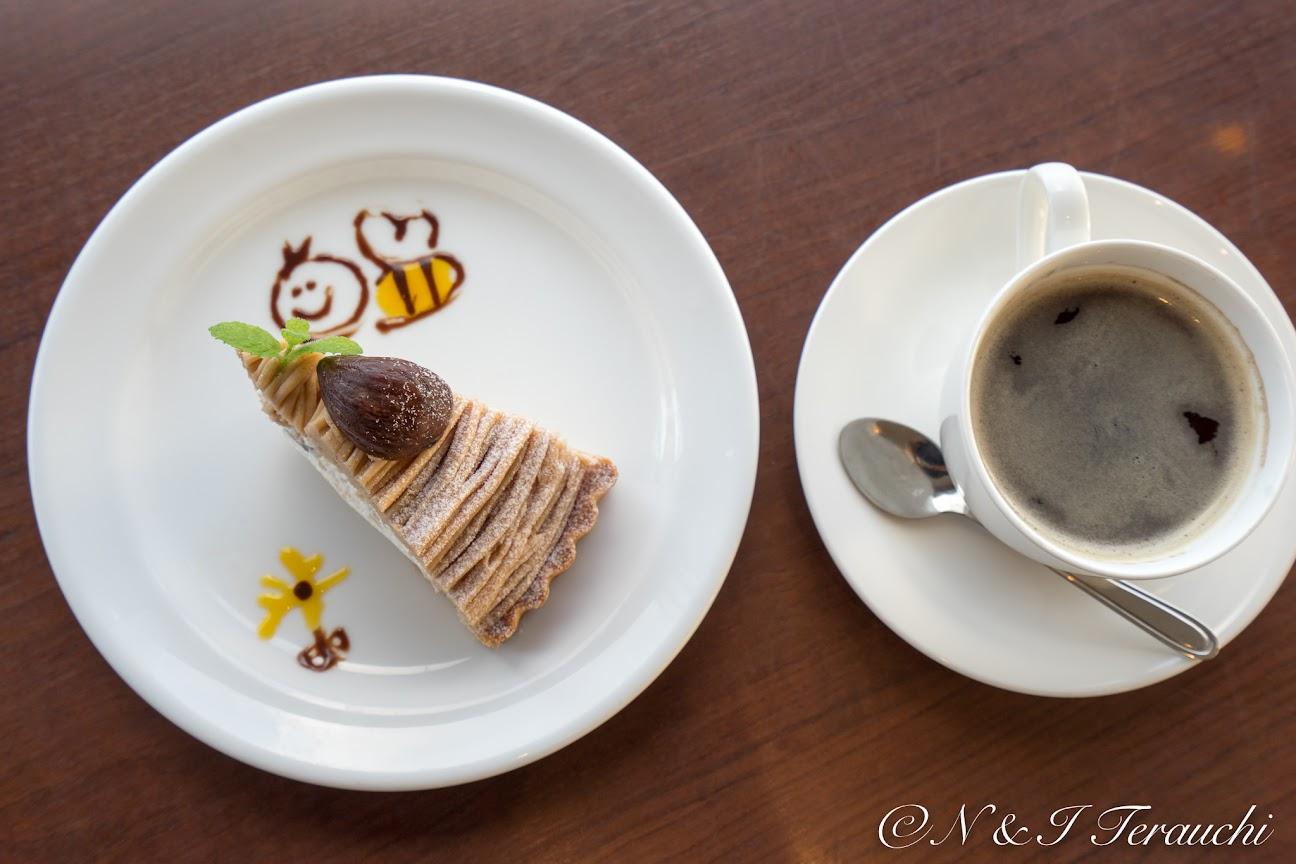 可愛い蜂のチョコアート