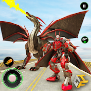 Super Dragon Warrior Robot Transform Battle