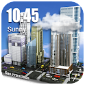 3D Mini City with Clear Sky icon