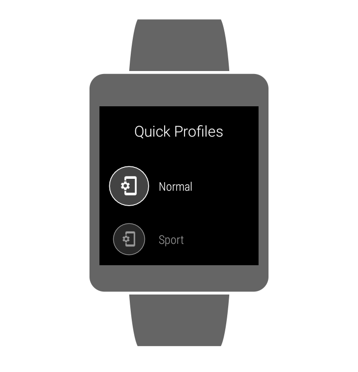 Quick Profiles- screenshot