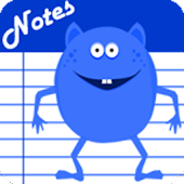 Notes - Blue Monster Cute