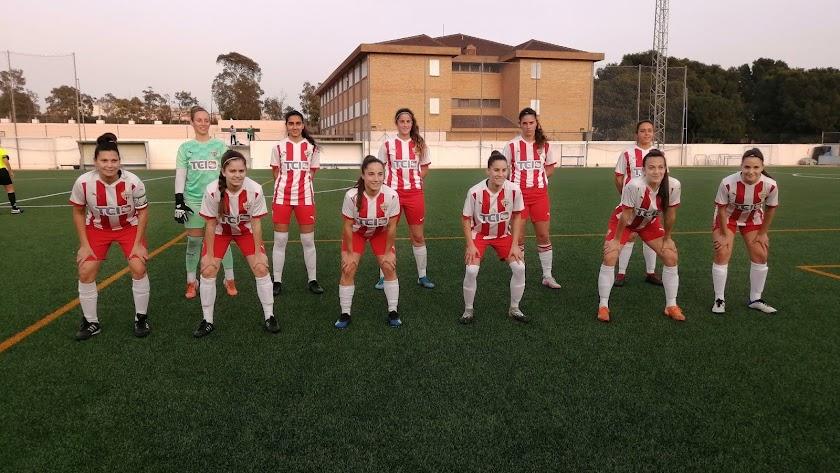 El once del Almería Femenino ante el Betis B.