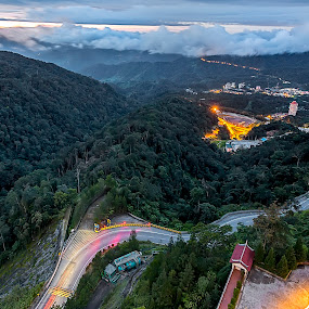 Light Up The Mountains 2017 by Coolvin Tan - Landscapes Mountains & Hills ( lights, hills, mountain, cloudy, weather, sunrise, morning )