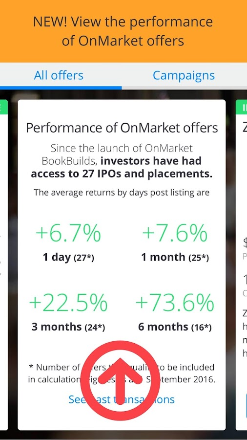 OnMarket: Invest free in IPOs- screenshot