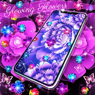 Glowing flowers live wallpaper - náhled