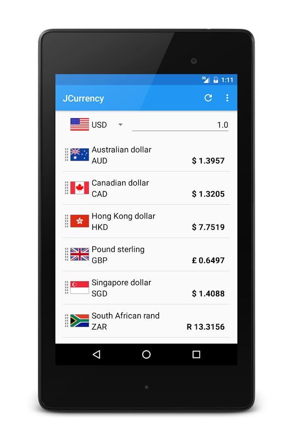 JCurrency- screenshot