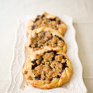 Mini Blueberry Galettes with Hazelnut Crumble
