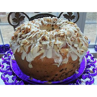 Almond Crunch & Chocolate Confetti Chiffon Cake