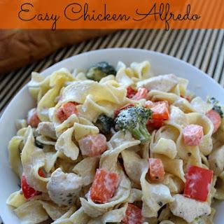 Easy Chicken Alfredo.