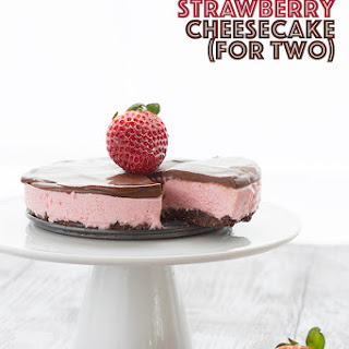 Chocolate Strawberry Cheesecake for Two.