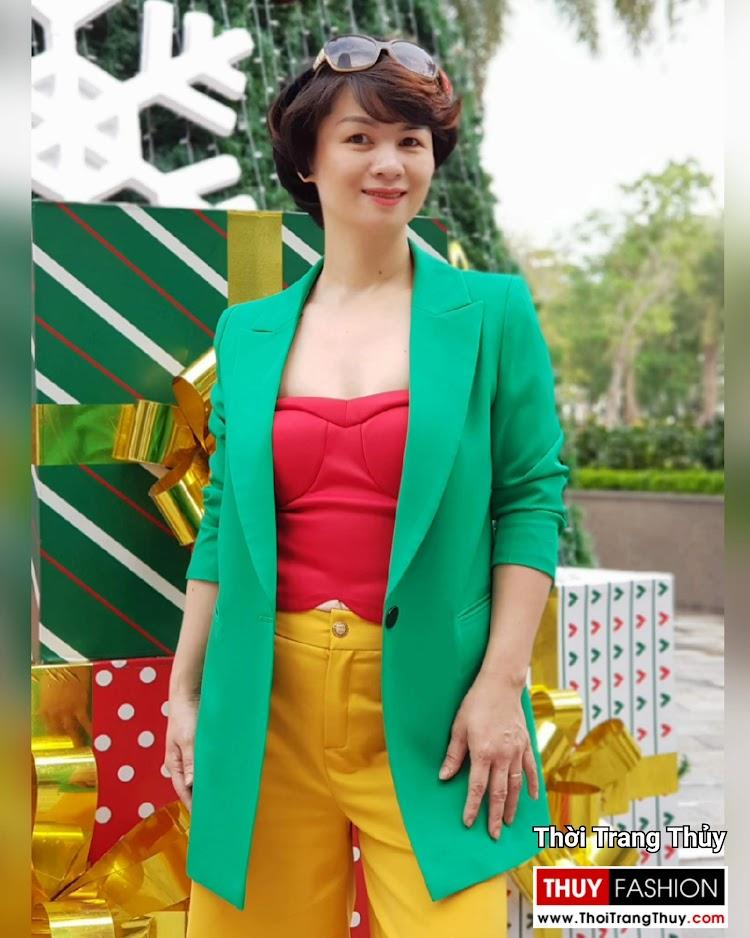 Áo vest nữ dáng suông mix quần culottes áo croptop V696 thời trang thủy sài gòn