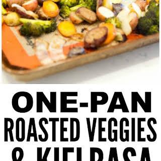 One-Pan Roasted Kielbasa & Veggies.