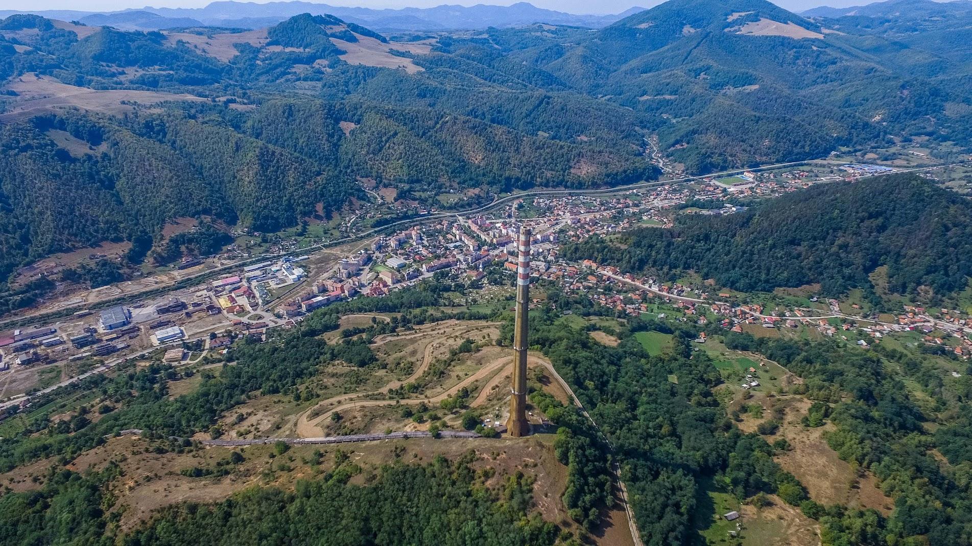 huge chimney Transilvania Transylvania romania